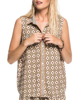SCOTCH & SODA Tile Print Sleeveless Shirt. #scotchsoda #cloth #shirt
