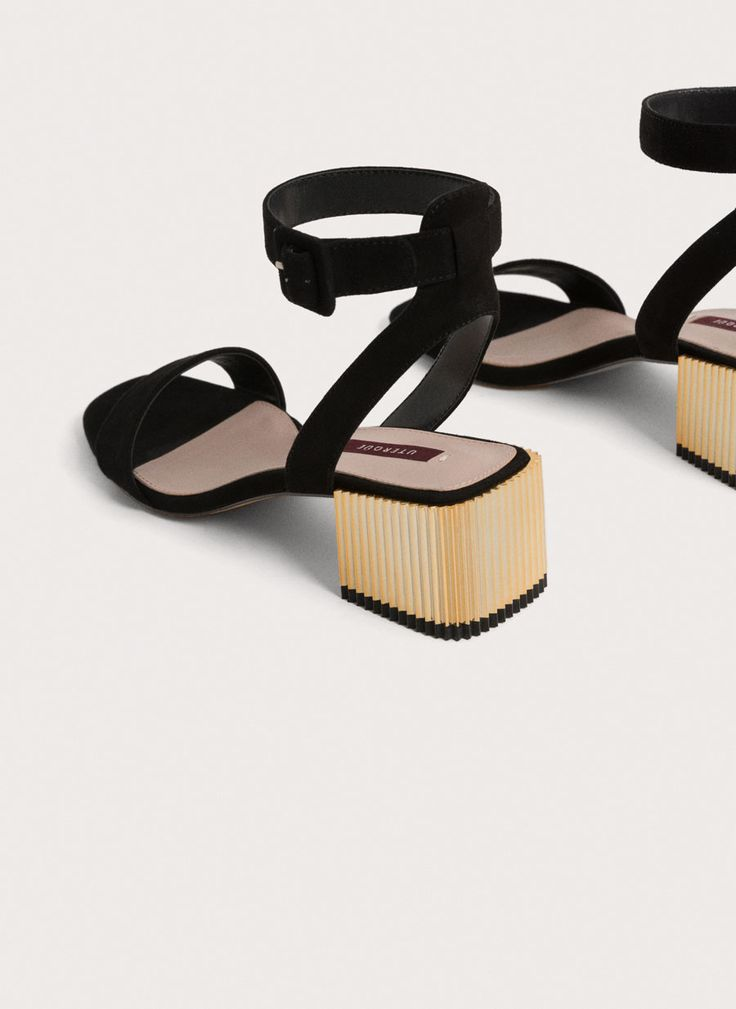 Metallic high heel sandals - View all - Footwear - Uterqüe Netherlands