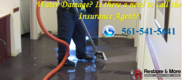 Water Damage? Is there a need to call the Insurance Agent?