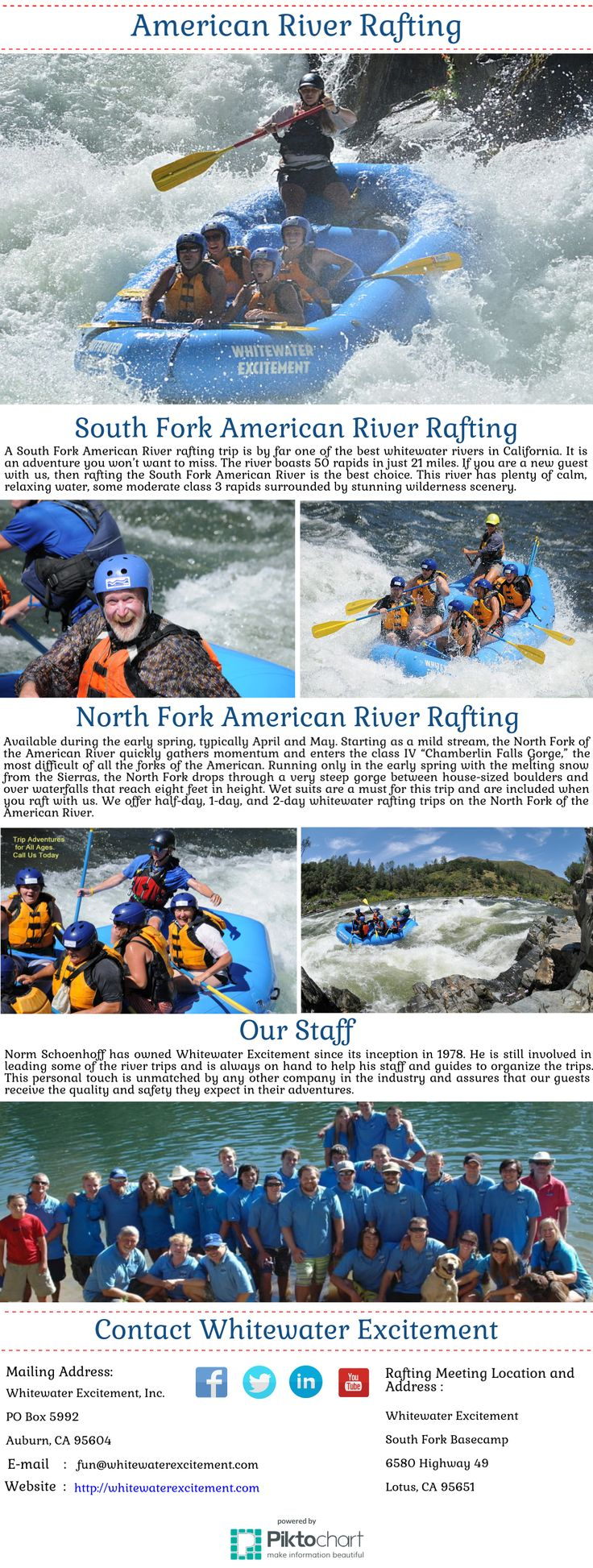 """Since 1978 we've been river rafting California through our American River white water rafting adventures. Your enjoyment & safety is our top priority.We offer 1/2 to 3-day river rafting trips in California for beginners to experienced rafters. With """"Best in Class"""" standards of safety, service, pricing, and quality."""