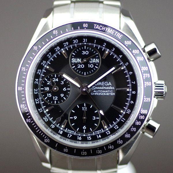 【中古】OMEGA(オメガ) 3220-50 スピードマスター クロノメーター トリプルカレンダー オートマチック SS メンズ ブラック文字盤時計/新品同様・極美品・美品の中古ブランド時計を格安で提供いたします。