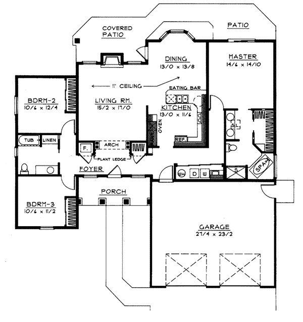 63 best house plans images on pinterest floor plans for Handicap accessible ranch house plans