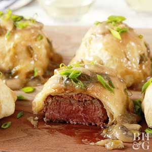 Make this extra-special pastry-wrapped beef tenderloin recipe for a celebratory or romantic dinner.