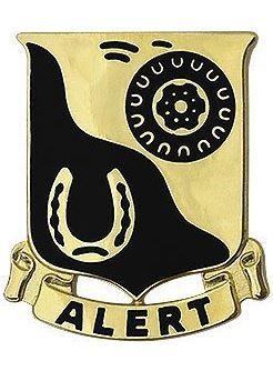 91st Cavalry Regiment Unit Crest (Alert)