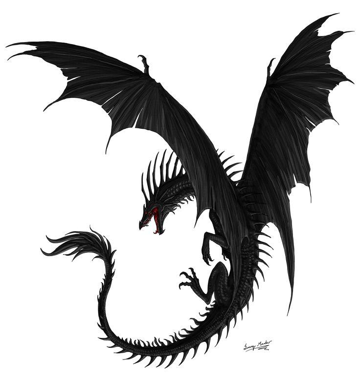 Black dragon, T... Flying Fantasy Dragons