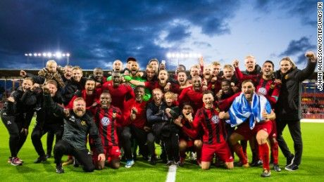 """""""Once we've achieved that, we will continue being champions. We will go 100% for the Champions League."""" https://edition.cnn.com/2017/09/28/football/ostersunds-sweden-europa-league-daniel-kindberg-graham-potter/index.html #football #europa #league"""