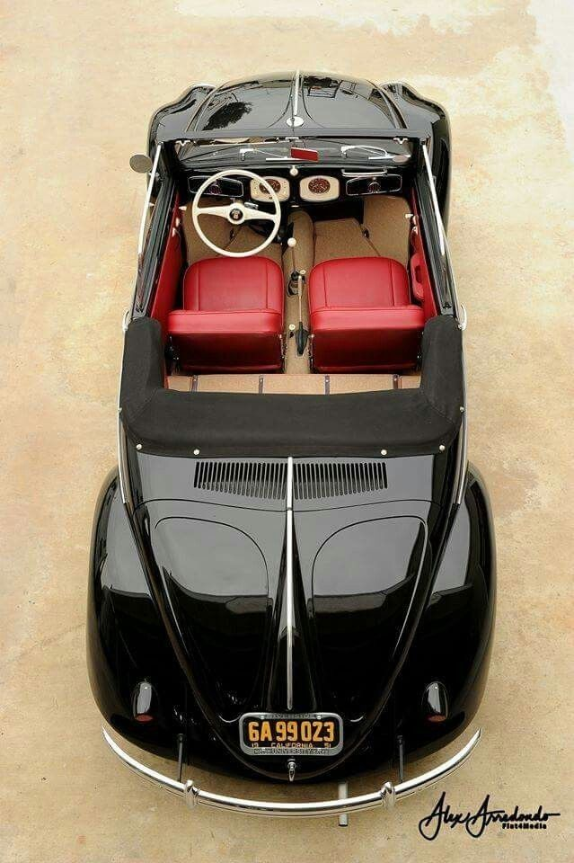 1950 Volkswagen type 14.A Hebmuller Cabriolet. A truly timeless classic. The two men responsible for this beautiful design: Charles Radcliffye & Joseph Hebmuller ll. Thankyou Skullybloodrider.
