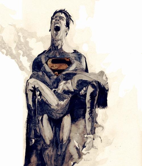 The Death of Lois Lane by Vikk Vega #death #art #kysa