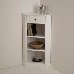 Encoignure, laqué blanc, Authentic Style La Redoute Interieurs