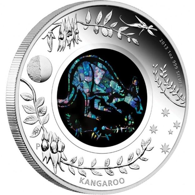 Kangaroo - Australian Opal Series - 2013 One Ounce Silver Proof Coin | australiasilver.com