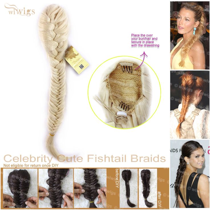 Clip di Cute luce bionda Fishtail trecce celebrità in coda di cavallo intrecciati capelli estensioni fai da te WIWIGS di Wiwigs su Etsy https://www.etsy.com/it/listing/244936929/clip-di-cute-luce-bionda-fishtail-trecce