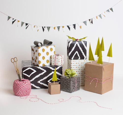 5 gift topper ideas | The House That Lars Built - gift wrap by Kate Zaremba