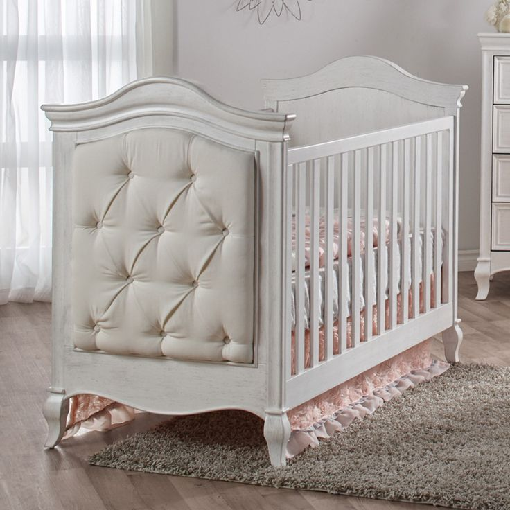 Pali Diamante Classic White Baby Girl Crib - upholstered crib converts to a  toddler bed or - 8 Best White Nursery Furniture (cribs!) Images On Pinterest White