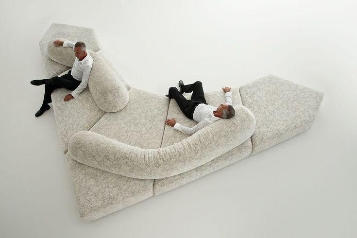 Contemporary modular sofa - ON THE ROCKS by Francesco Binfaré - edra - Videos