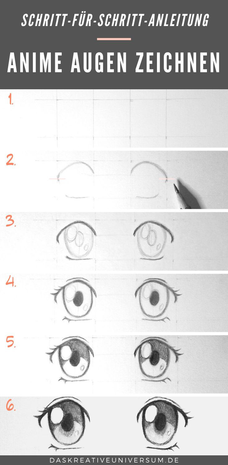 Learn to draw anime eyes: Instructions for girls eyes How ...