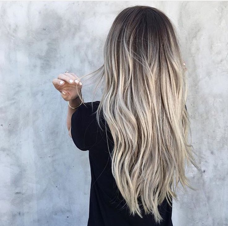 Ash Blonde rooted look