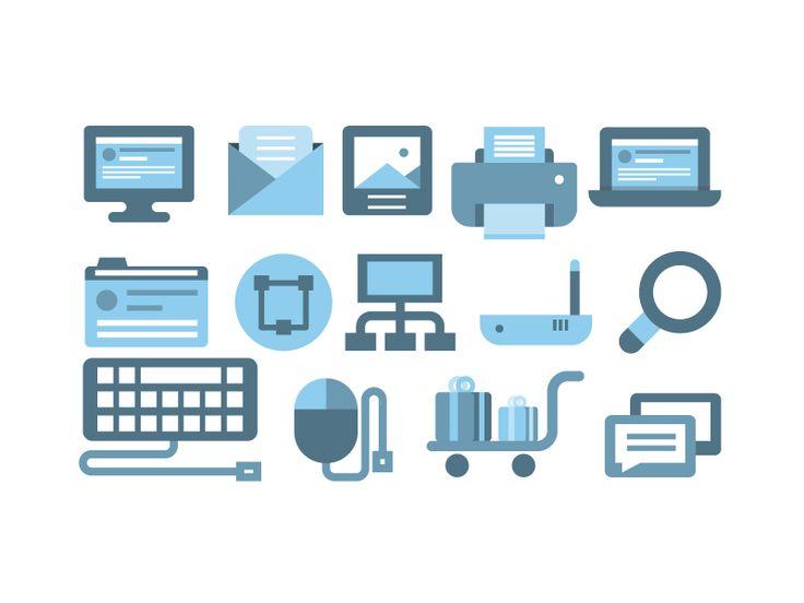 flat internet icons