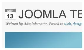 Joomla responsive templates