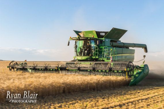 John Deere Photograph Combine S680 Harvest by RyanBlairPhotography