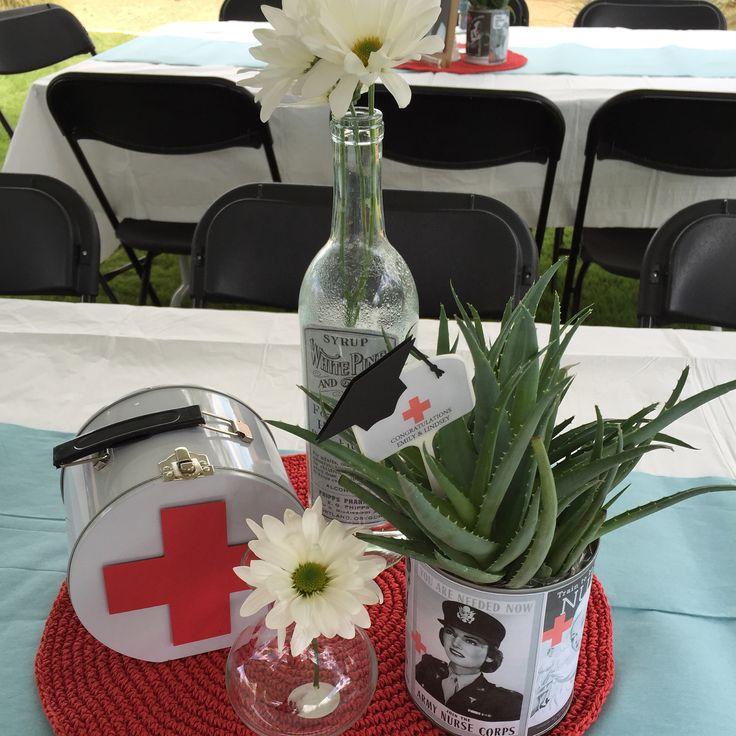 Nurse Practitioner Graduation Party Centerpieces #custompartydecorations #customcenterpieces #partystylist #noveldesigns #lasvegas