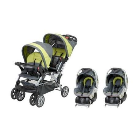Baby Trend Sit N Stand Inline Double Baby Stroller & Twin Car Seat Travel System - Walmart.com