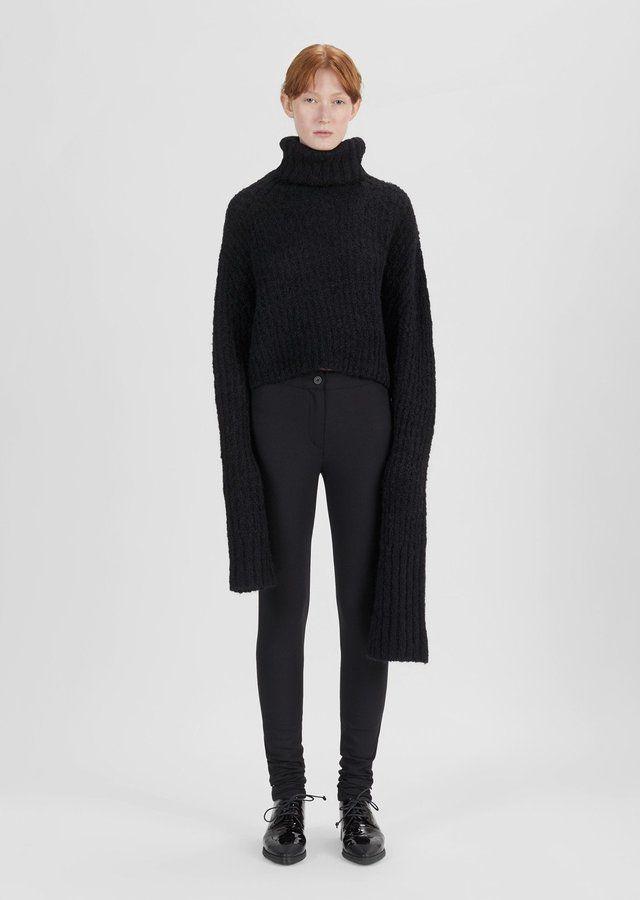 Ann Demeulemeester Wool Legging Trouser Black Jack Black Size: EUR 36