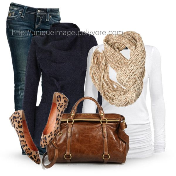 Casual OutfitFashion, Casual Outfit, Outfit Ideas, Style, White Shirts, Winter Outfit, Animal Prints, Fall Outfit, Leopards Flats
