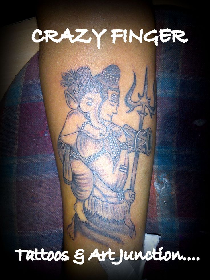 lord shiva ganesha trishul tattoo nilesh crazy finger tattoos pinterest lord shiva. Black Bedroom Furniture Sets. Home Design Ideas