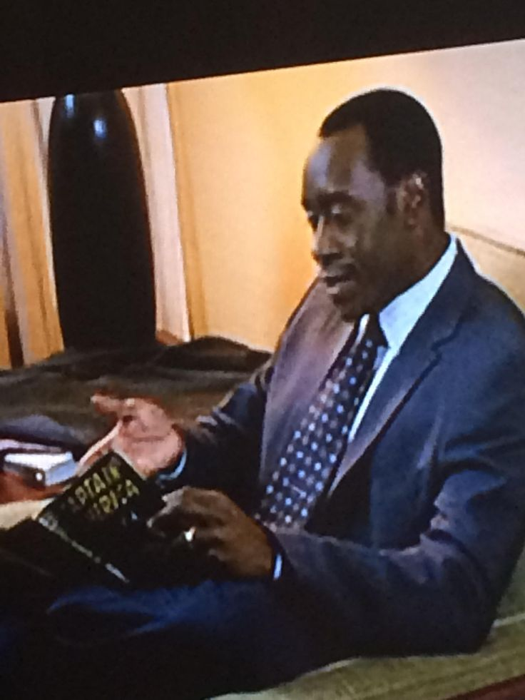 "Don Cheadle reading a Captain America comic in ""Reign Over Me"""