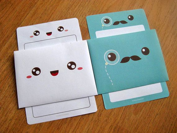 12 Cute Linen Envelopes and Notes