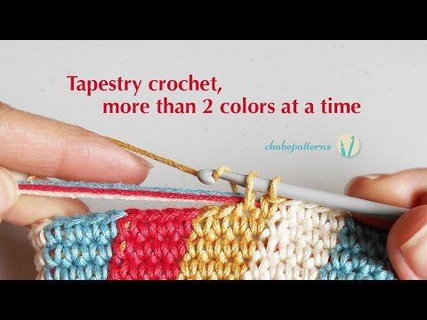 Tapestry crochet, more than 2 colors at a time - YouTube