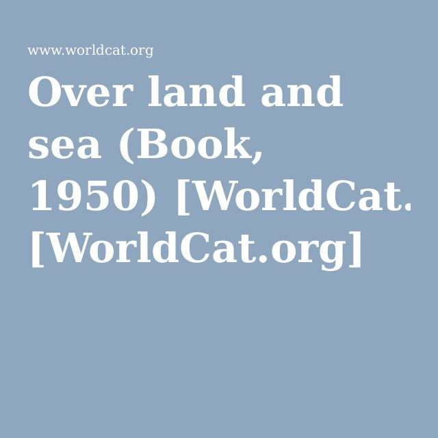 Over land and sea (Book, 1950): Adam and Nick, p. 323