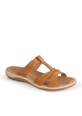 Acorn Women's C2g Lite T-Strap Sandal - Brown - 10M