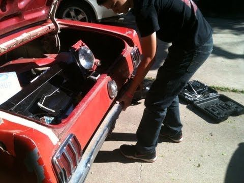 DIY - How To Replace A Quarter Panel on a 1966 Mustang - Part 1 - YouTube