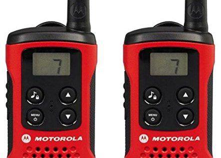 Motorola Paire de talkies walkies Motorola T40 portée en champs libre 4km Rouge: Puissance d'émission : 500 mW Ecran LCD Canaux : 8 Cet…