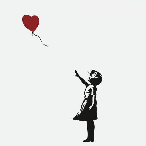 Banksy - Girl with Red Balloon Wall Decal