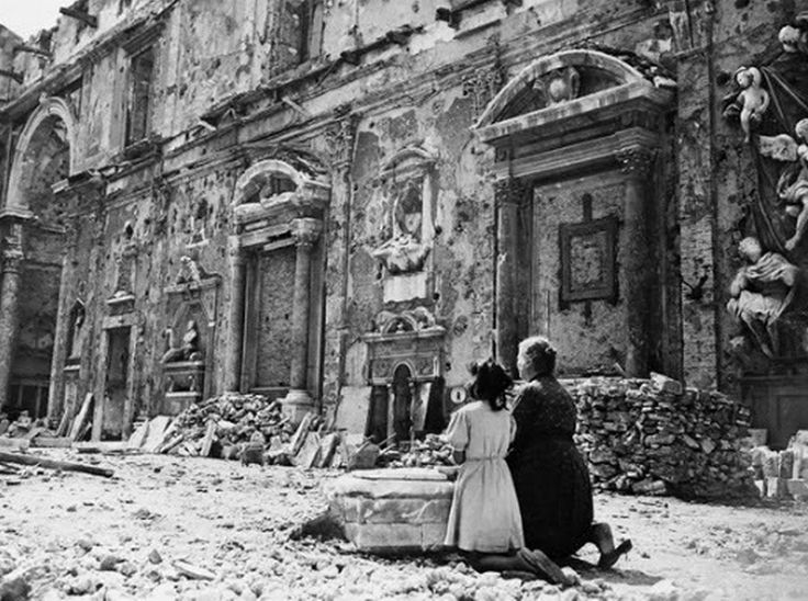 Livorno, Italy, 1940s-Of all that happened and all to come, this woman is teaching this child about true love and faith. She may be the only one left in her town that chose the right response to all that was happening. Wisdom sometimes looks strange, when acted out in faith and obedience. But, it is always what God honors. Miracles come from prayers like these.