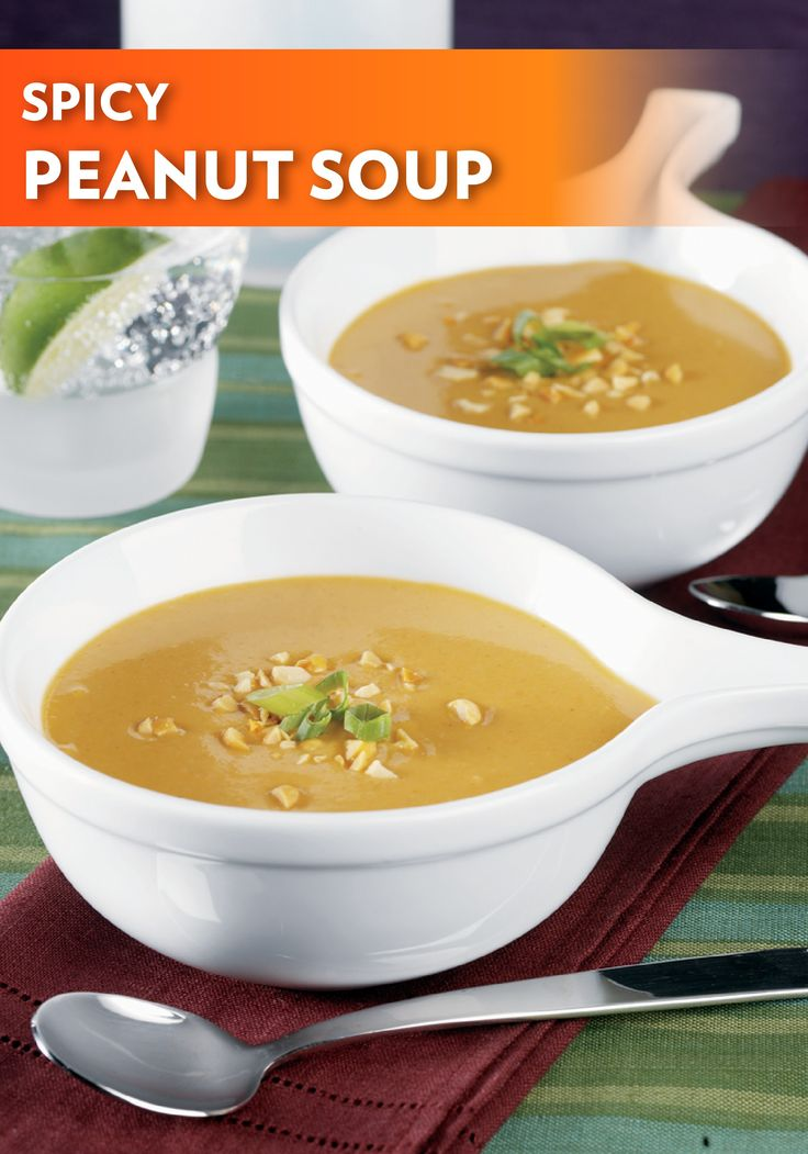 potatoes and peanut butter form the base of this Spicy Peanut Soup ...