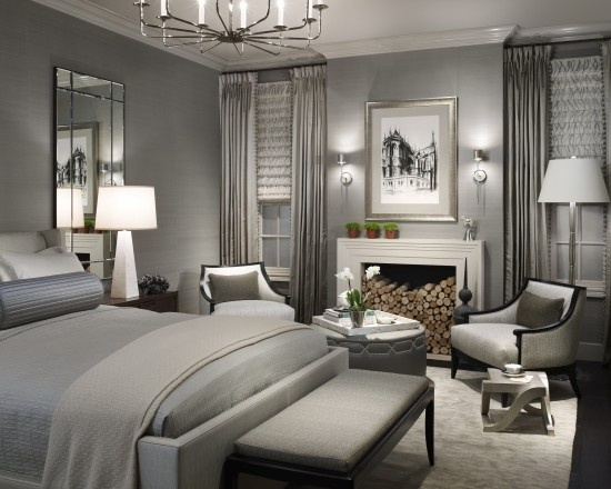 Grey Bedroom by Michael Abrams Limited        LOVE the monochromatic color scheme in Grey