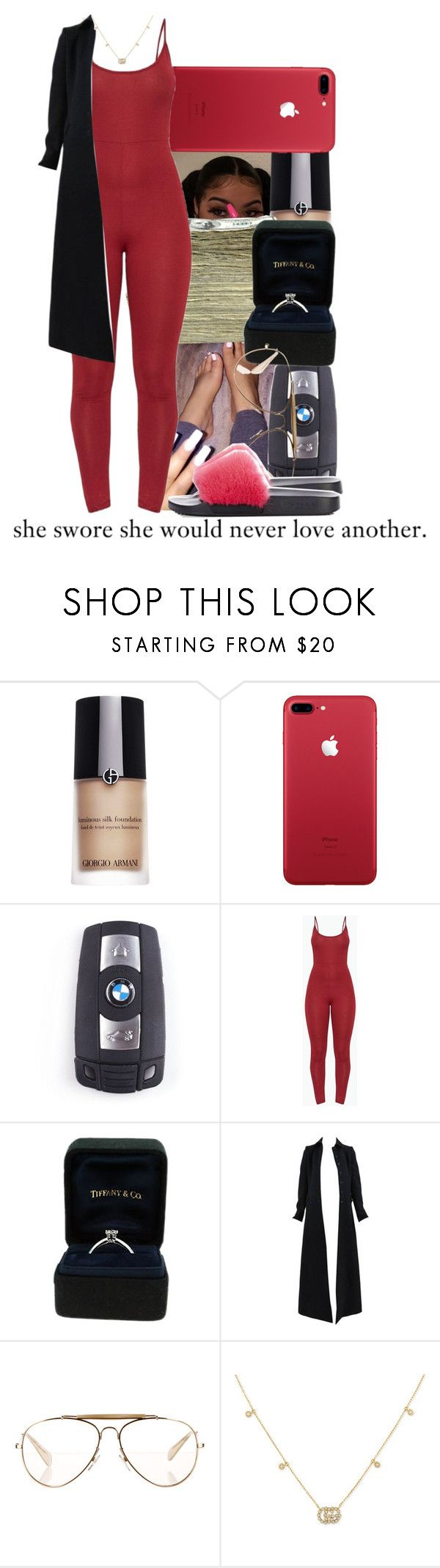 """Went go get these nail done today and bf got me a promise ring!"" by queenwhit2 ❤ liked on Polyvore featuring Giorgio Armani, SEN, BMW, Tiffany & Co., Alaïa, CÉLINE, Gucci and Givenchy"