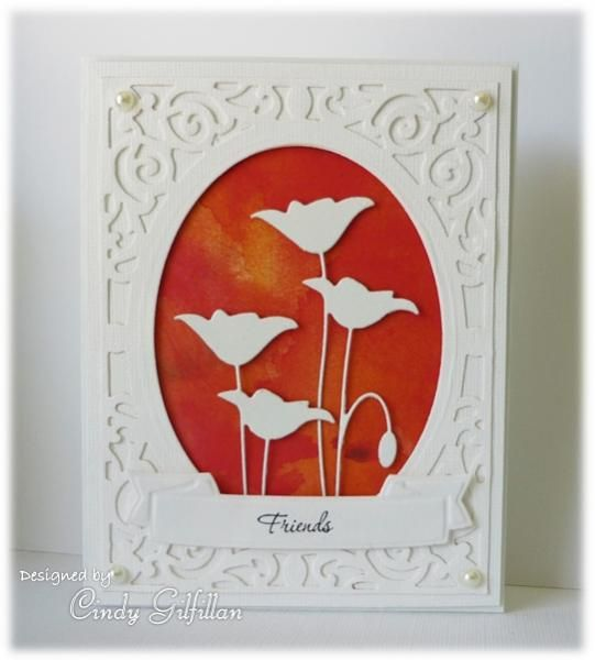 Silhouette Poppies by frenziedstamper - Cards and Paper Crafts at Splitcoaststampers