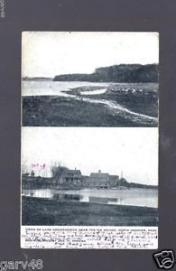 Views on Lake Cochichewich Near The Ice Houses North Andover MA Postcard | eBay