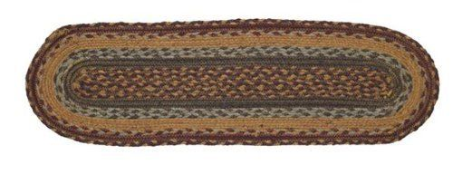 "Burlington Jute Stair Tread Oval 8.5x27"" by Victorian Heart. $11.20. See Product Description below for more details!. High end quality and workmanship!. Product measurements and additional details listed in title and/or Product Description below.. All cloth items in our collections are 100% preshrunk cotton. All braided items (like rugs, baskets, etc.) are 100% jute. Extensive line of matching items and accessories available! (Search by Collection name). 100% Jute"
