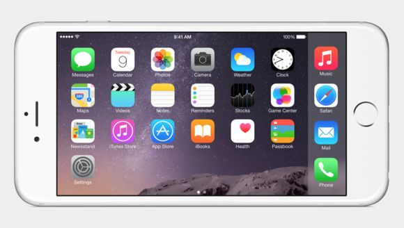 iPhone 6 Plus landscape mode