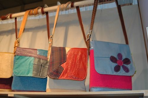 Upcycled purses by Joanne Jones of Mined Recreations