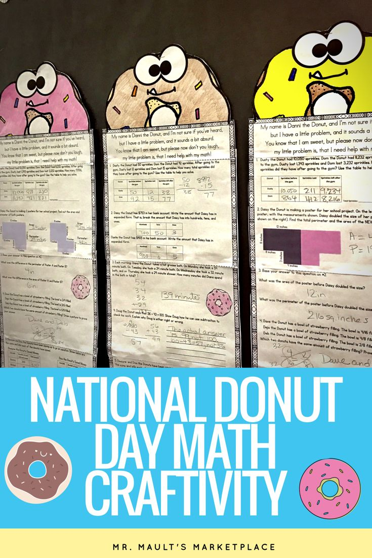 National Donut Day is June 2nd! Celebrate with this engaging math craftivity that is completely differentiated for grades 2-5.