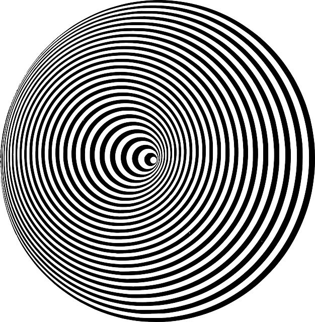 konzentrisch, kreise, runde, schwarz, weiß, optische, illusionen, visuelle, grafiken, auswirkungen, muster, entwürfe, wiederholte, symmetrisch, symmetrie, hell, geometrischen, kurven, gebogen, reflektieren, reflektierende, gewellt, konvergieren, linien