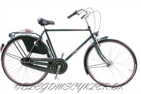 VAN DE FALK  Farver : Sort / mørkegrøn  Gear :  3 gear / 7 gear Bremser: Fodbremse / V-bremse Stel : Stålstel Fælge : Rustfrie stålfælge Dæk : 700x42C Størrelser-Herre :  55cm / 58cm / 61 cm Tilbehør : Forsikringsgodkendt lås, alu styr/frempind/kranksæt inkl. håndpumpe