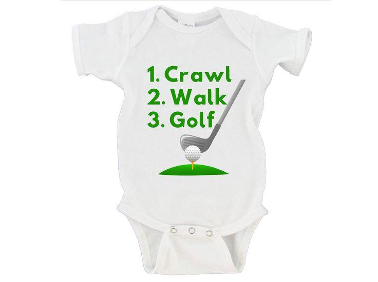 Crawl Walk Golf Gerber Onesie ®