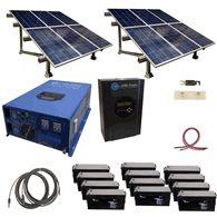 2880 Watt Off Grid Solar Kit with Solar Rack and 12000 Watt Power Inverter Charger 120/240 - 48 volt